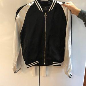 Jackets & Blazers - Black and White Bomber Jacket